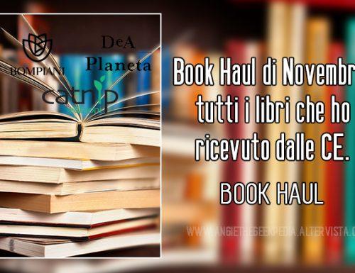 Book Haul di Novembre: tutti i libri che ho ricevuto dalle CE.